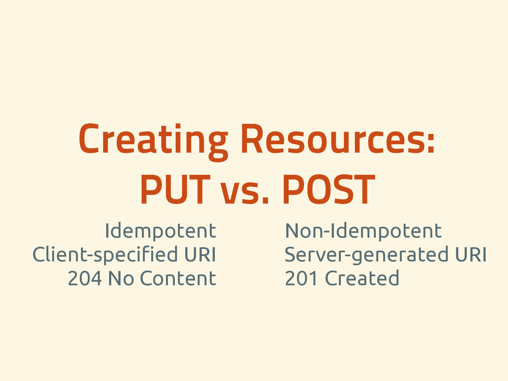 Creating Resources: PUT vs. POST Idempotent Cl...