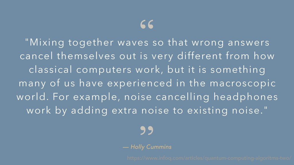 """"""" """" — Holly Cummins """"Mixing together waves so t..."""