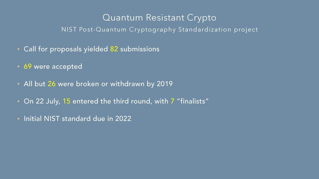 NIST Post-Quantum Cryptography Standardization ...