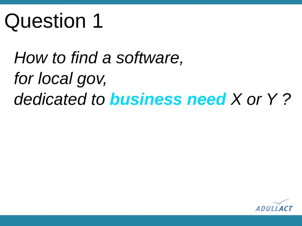 How to find a software, for local gov, dedicate...