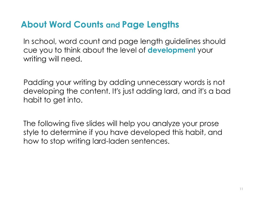 About Word Counts and Page Lengths In school, w...