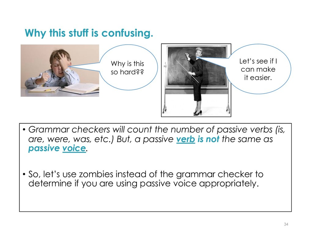 Why this stuff is confusing. • Grammar checkers...