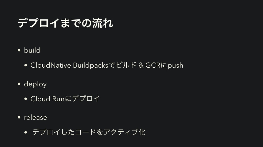 σϓϩΠ·ͰͷྲྀΕ • build • CloudNative BuildpacksͰϏϧυ ...