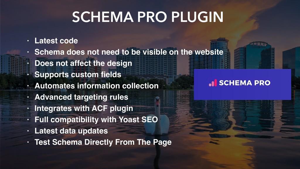 SCHEMA PRO PLUGIN • Latest code • Schema does n...