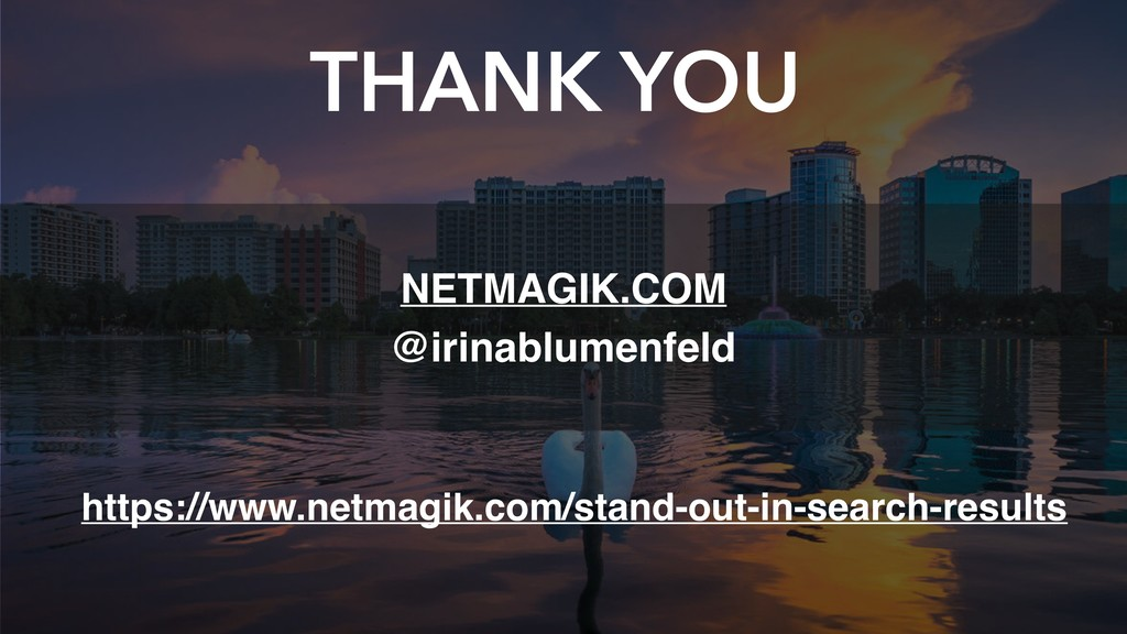 THANK YOU NETMAGIK.COM @irinablumenfeld https:/...
