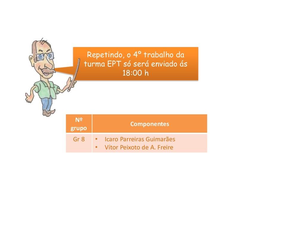 Nº grupo Componentes Gr 8 • Icaro Parreiras Gui...
