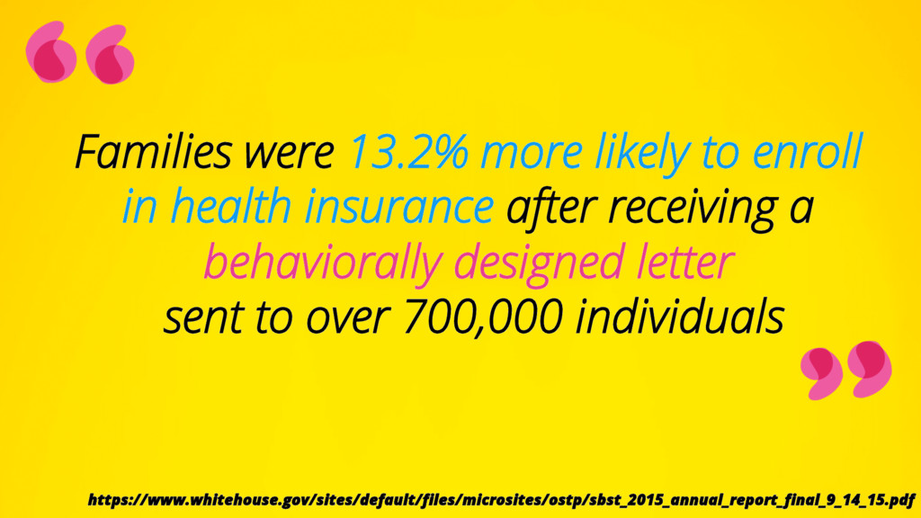 Families were 13.2% more likely to enroll in he...