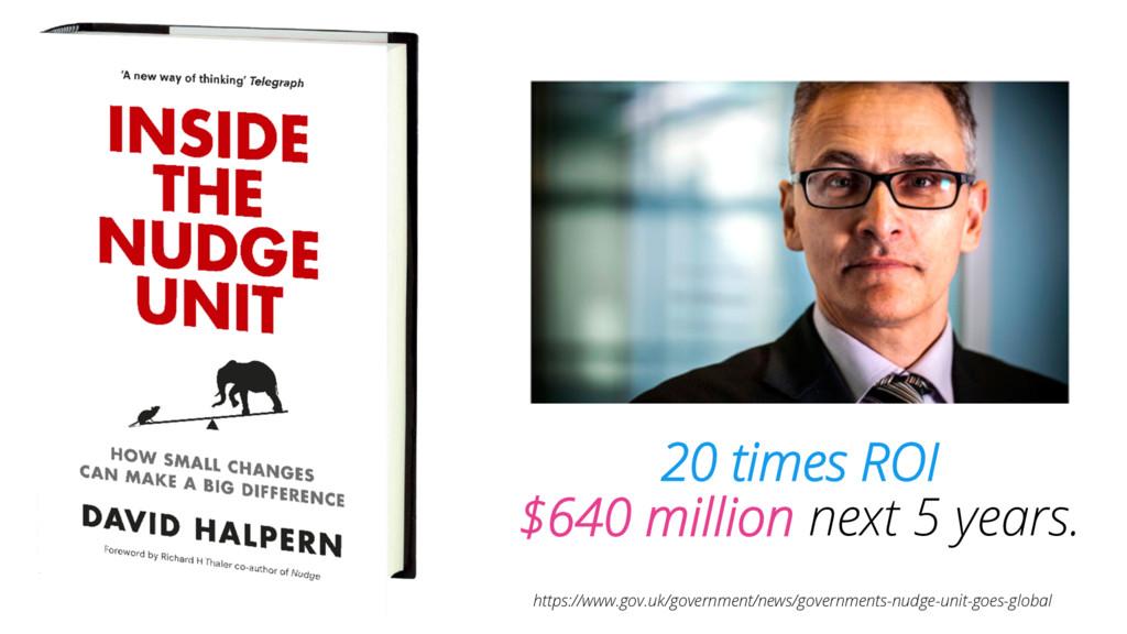 20 times ROI $640 million next 5 years. https:/...