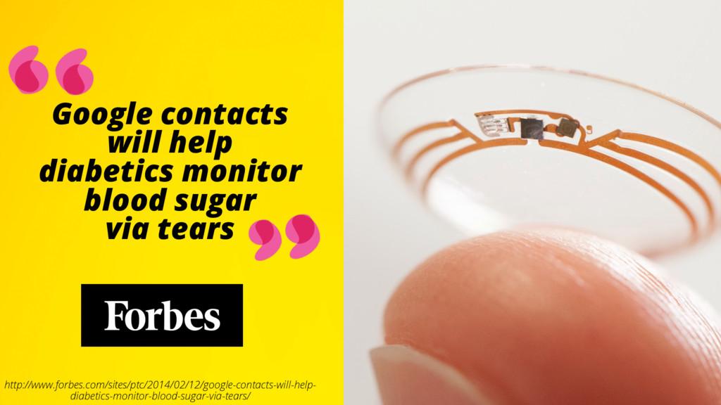 Google contacts will help diabetics monitor blo...