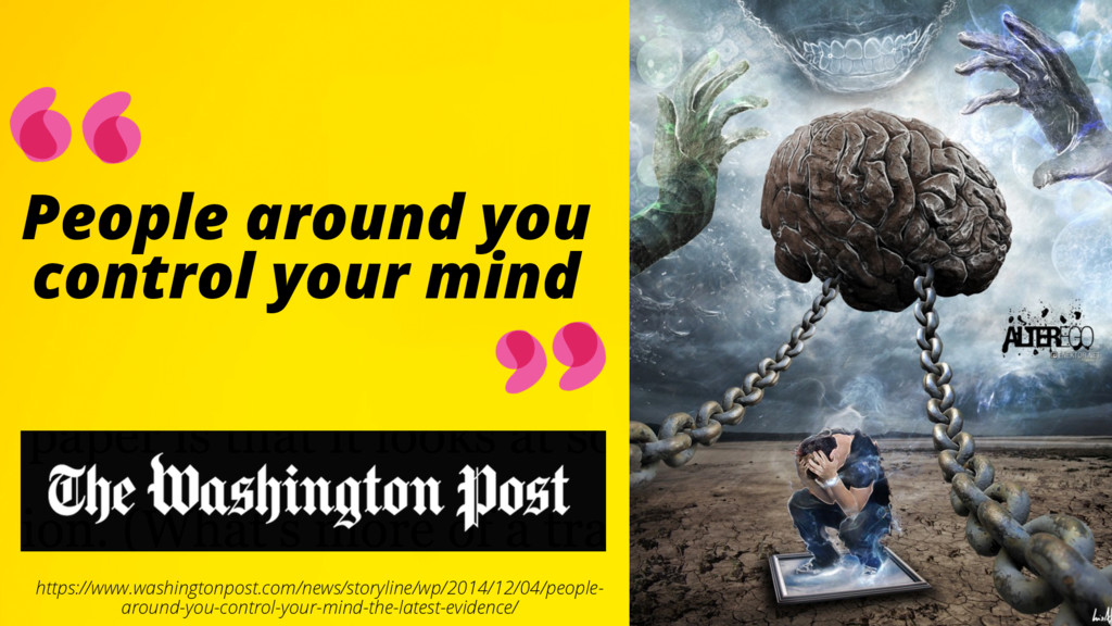 People around you control your mind https://www...