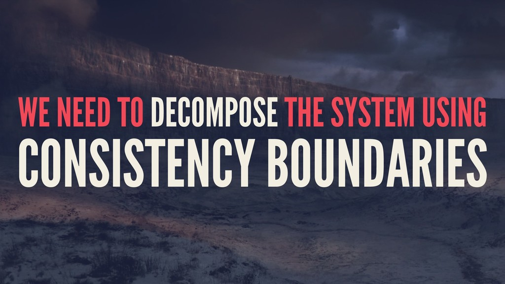 WE NEED TO DECOMPOSE THE SYSTEM USING CONSISTEN...