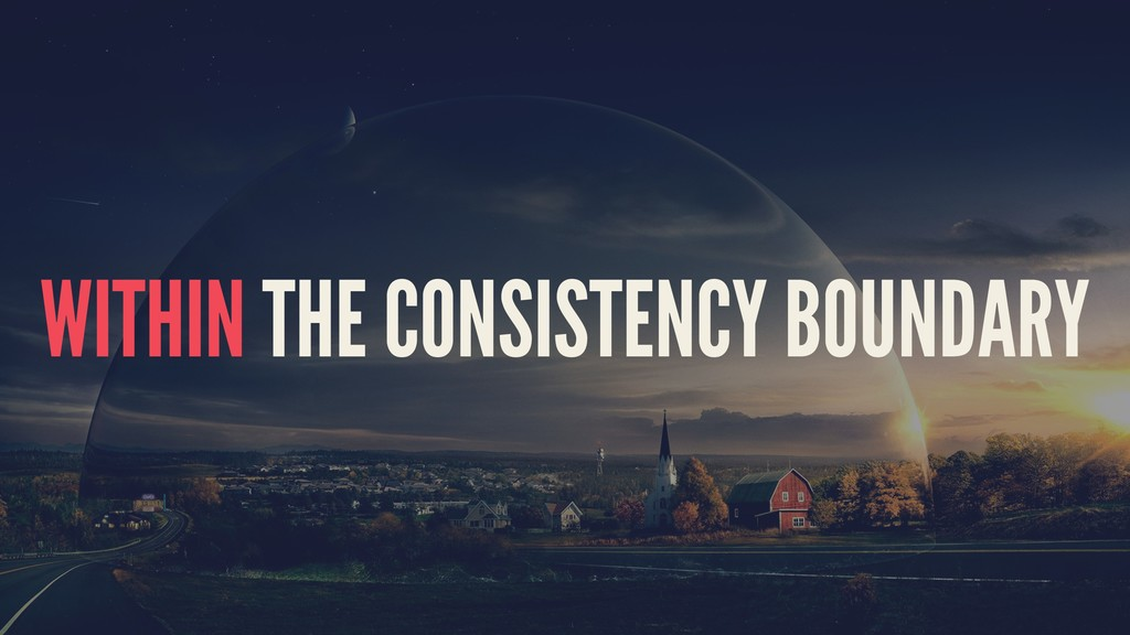 WITHIN THE CONSISTENCY BOUNDARY