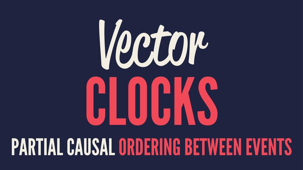 Vector CLOCKS PARTIAL CAUSAL ORDERING BETWEEN E...