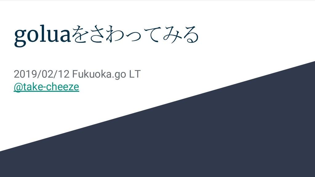 goluaをさわってみる 2019/02/12 Fukuoka.go LT @take-che...