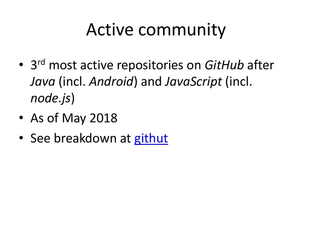 Active community • 3rd most active repositories...