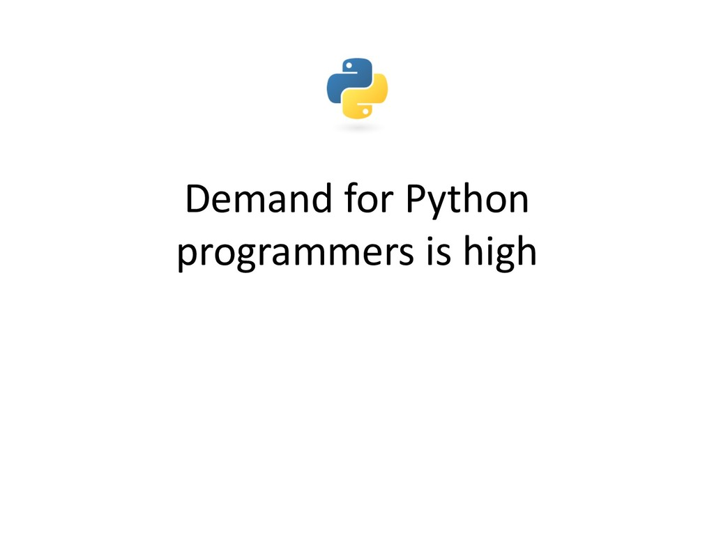 Demand for Python programmers is high