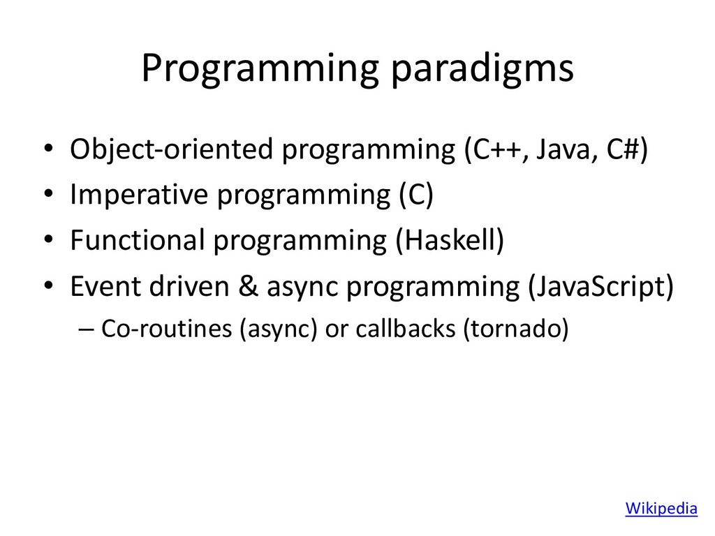 Programming paradigms • Object-oriented program...
