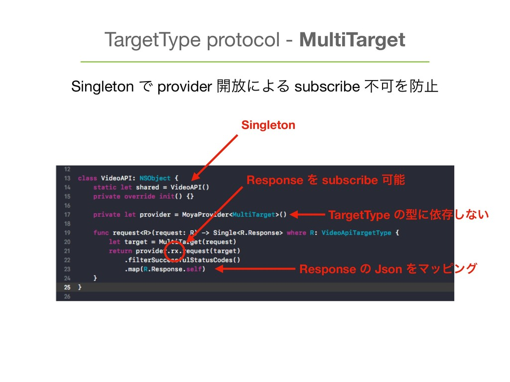 TargetType protocol - MultiTarget Singleton Ͱ p...