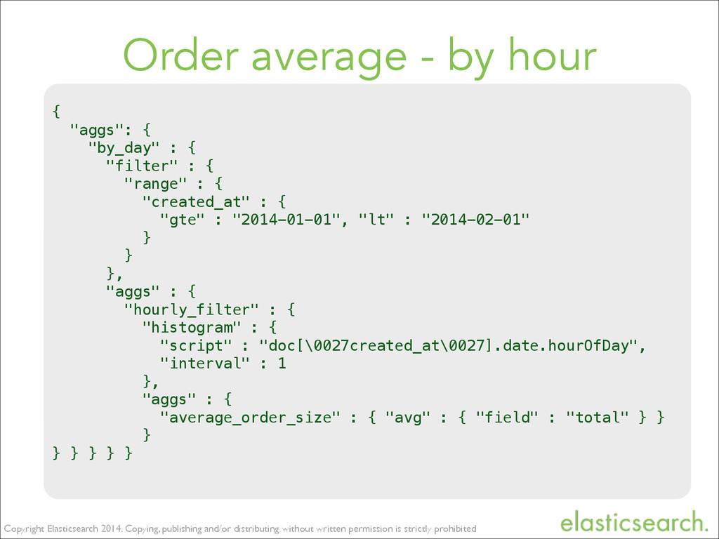Copyright Elasticsearch 2014. Copying, publishi...