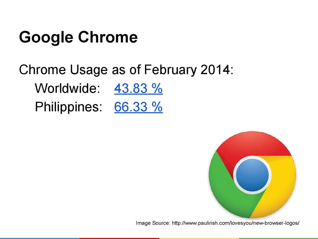 Google Chrome Chrome Usage as of February 2014:...