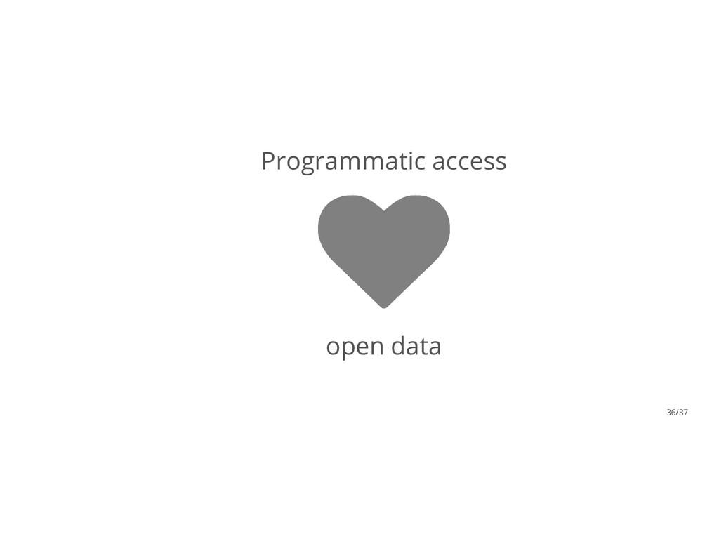 Programmatic access open data 36/37