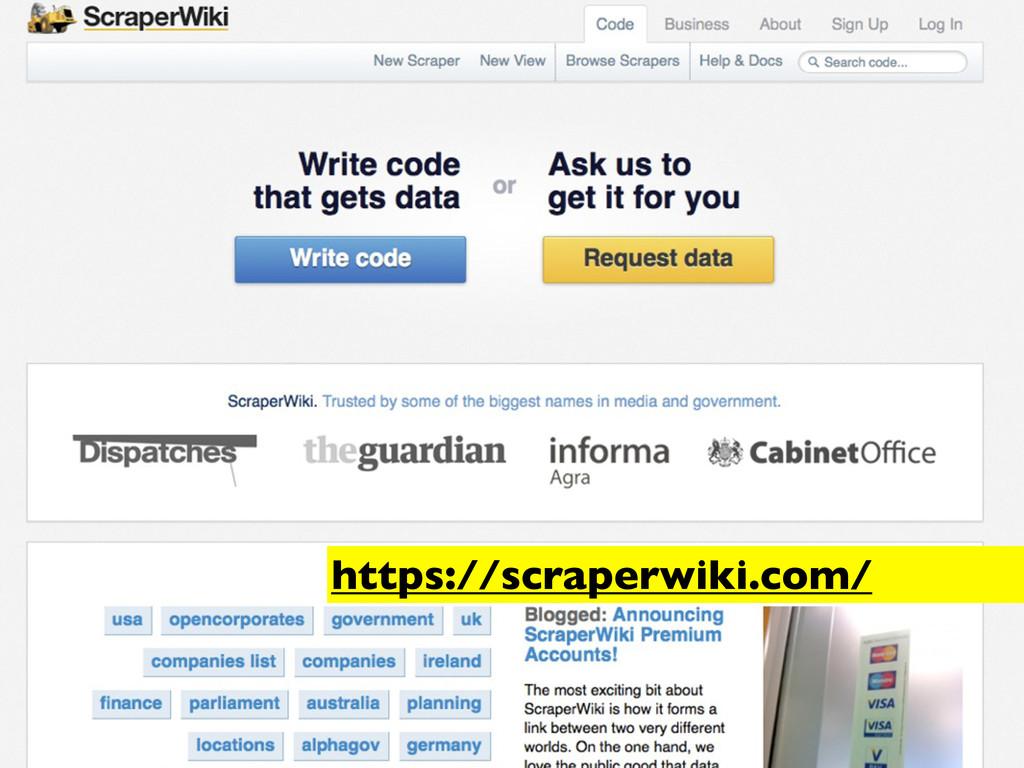 https://scraperwiki.com/