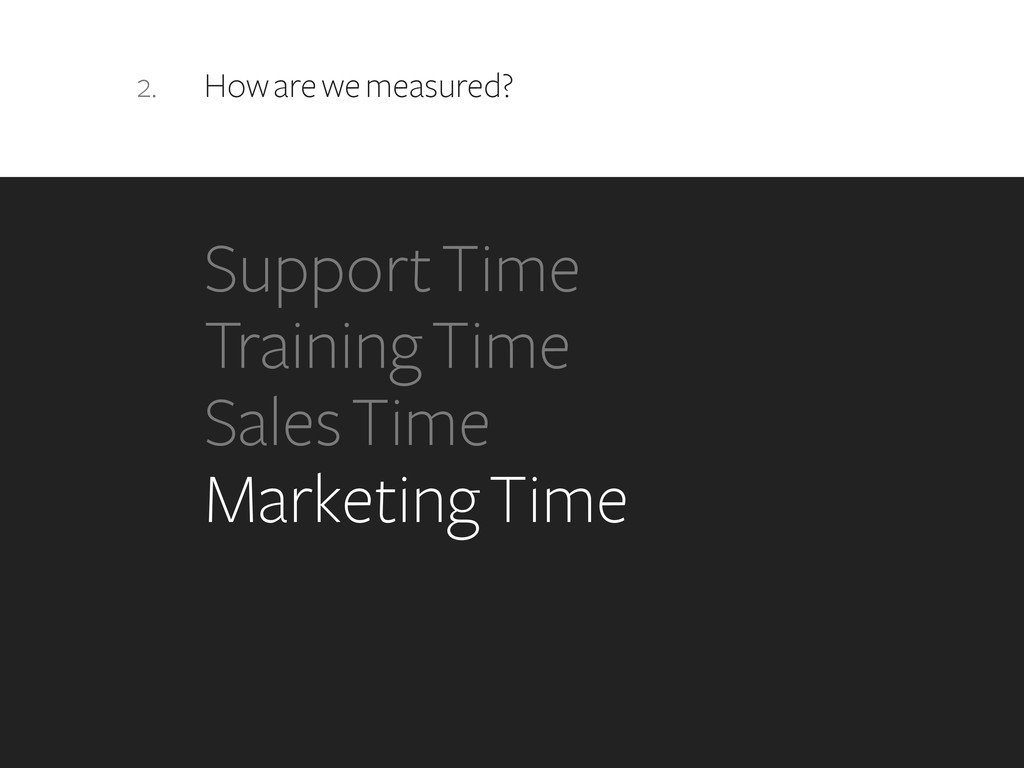 2. How are we measured? Support Time Training T...