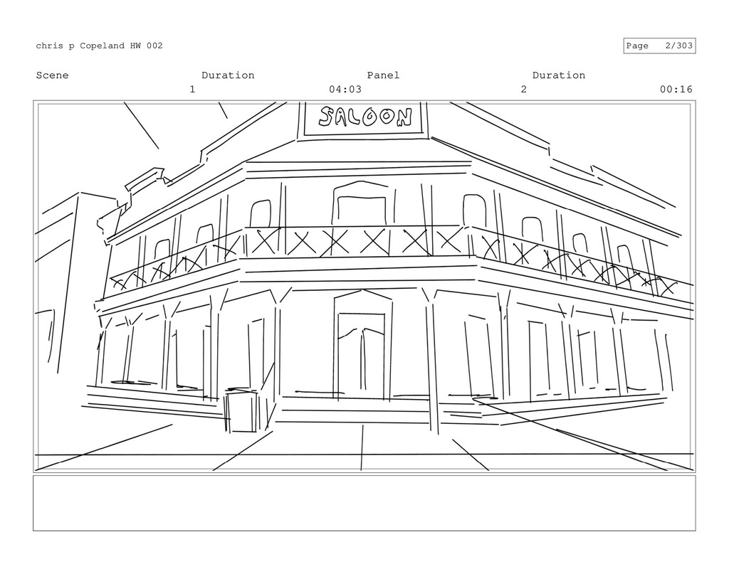 Scene 1 Duration 04:03 Panel 2 Duration 00:16 c...