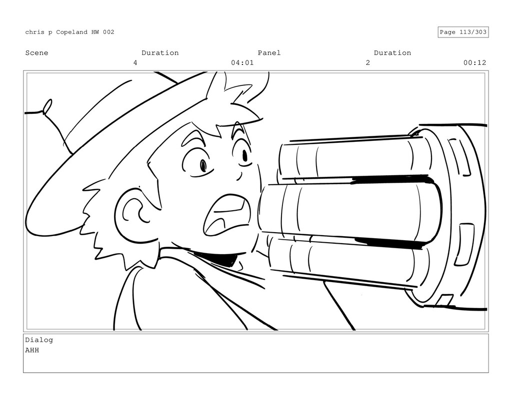 Scene 4 Duration 04:01 Panel 2 Duration 00:12 D...