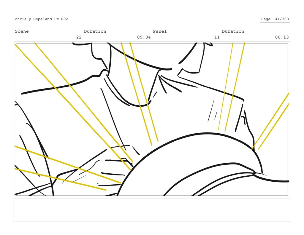 Scene 22 Duration 09:04 Panel 11 Duration 00:13...