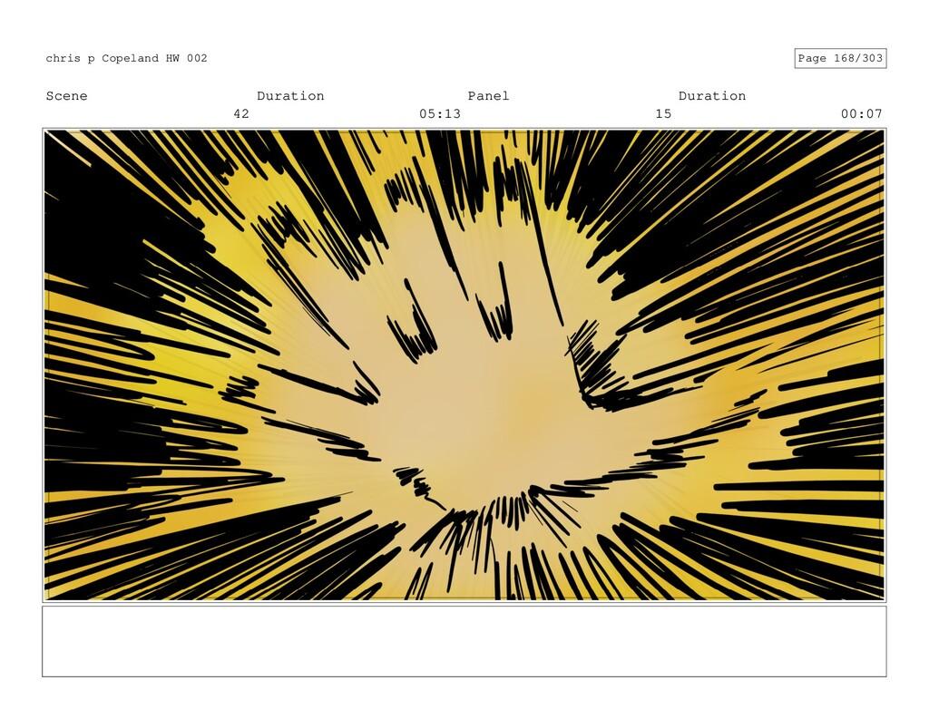Scene 42 Duration 05:13 Panel 15 Duration 00:07...