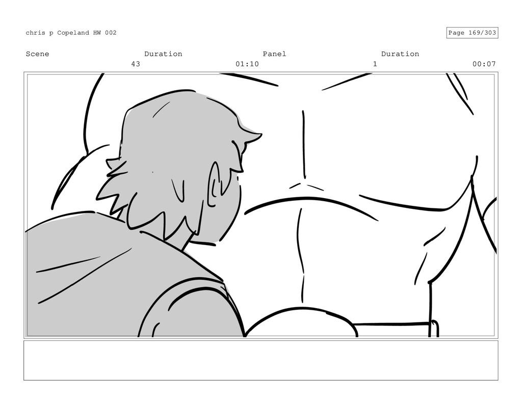 Scene 43 Duration 01:10 Panel 1 Duration 00:07 ...
