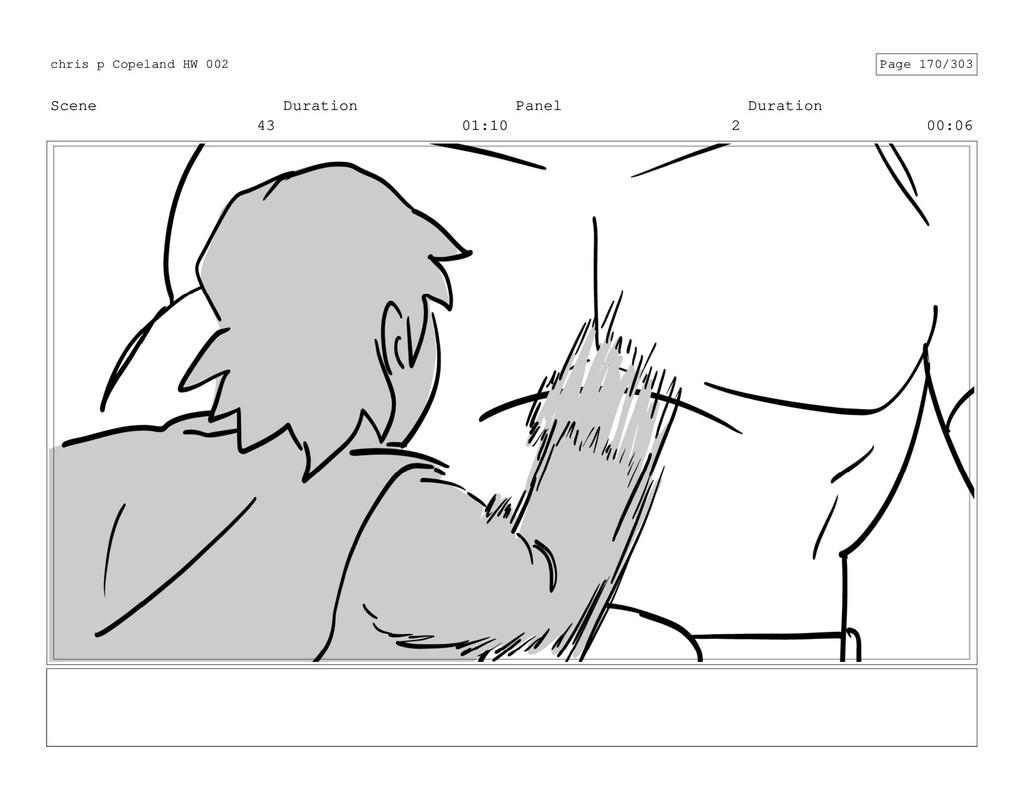 Scene 43 Duration 01:10 Panel 2 Duration 00:06 ...