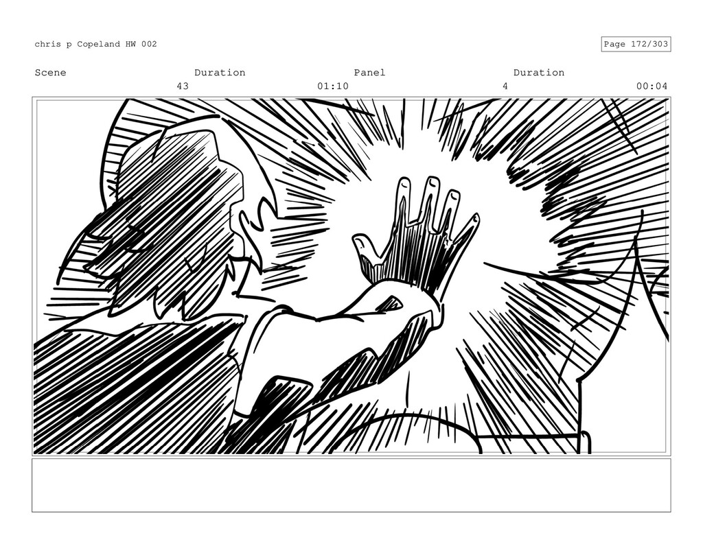 Scene 43 Duration 01:10 Panel 4 Duration 00:04 ...