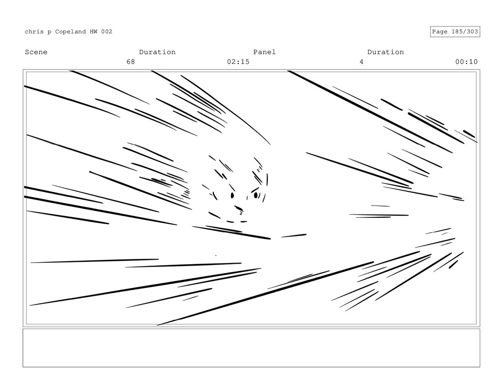 Scene 68 Duration 02:15 Panel 4 Duration 00:10 ...