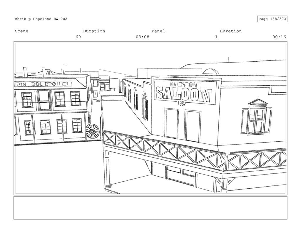 Scene 69 Duration 03:08 Panel 1 Duration 00:16 ...