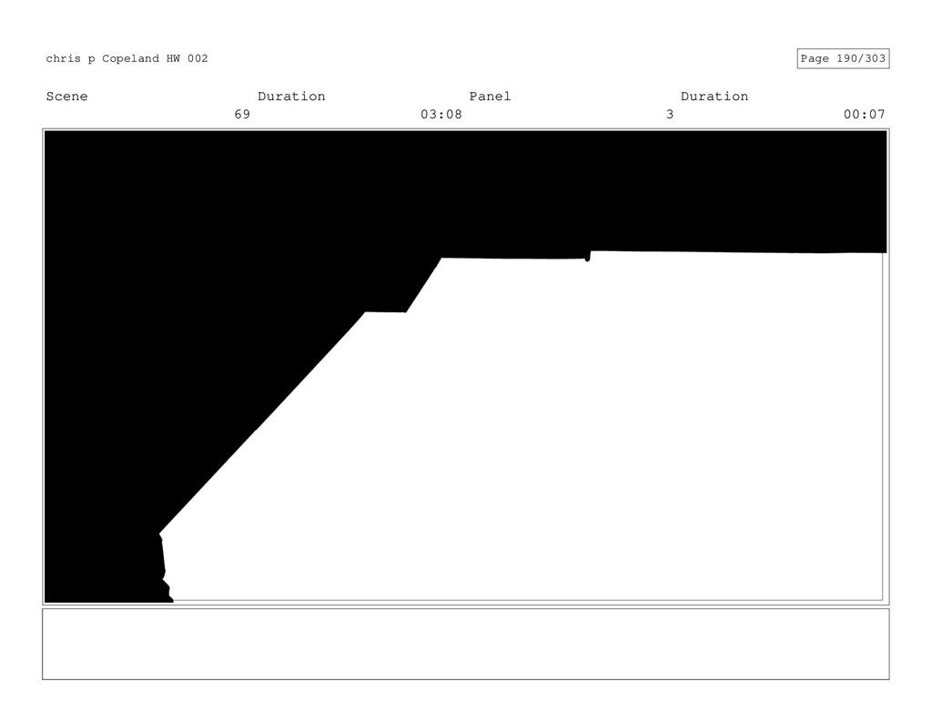 Scene 69 Duration 03:08 Panel 3 Duration 00:07 ...