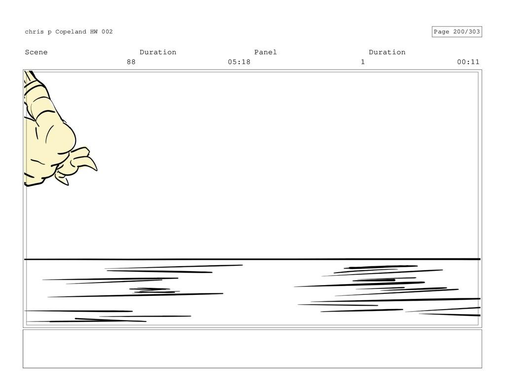 Scene 88 Duration 05:18 Panel 1 Duration 00:11 ...