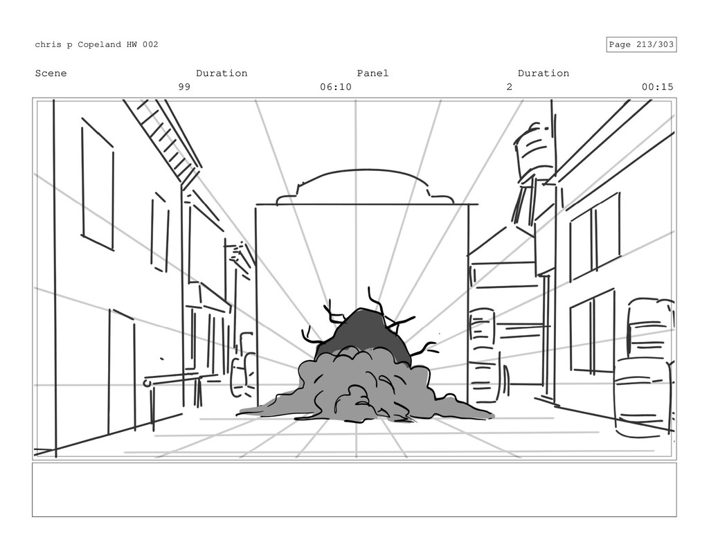 Scene 99 Duration 06:10 Panel 2 Duration 00:15 ...