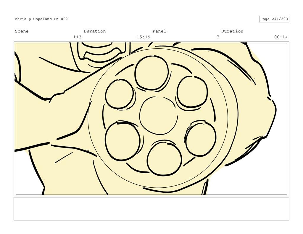 Scene 113 Duration 15:19 Panel 7 Duration 00:14...
