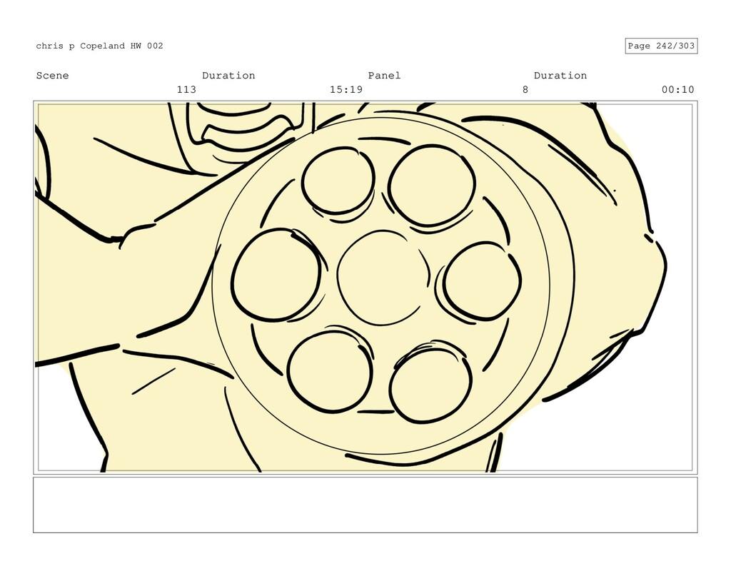 Scene 113 Duration 15:19 Panel 8 Duration 00:10...