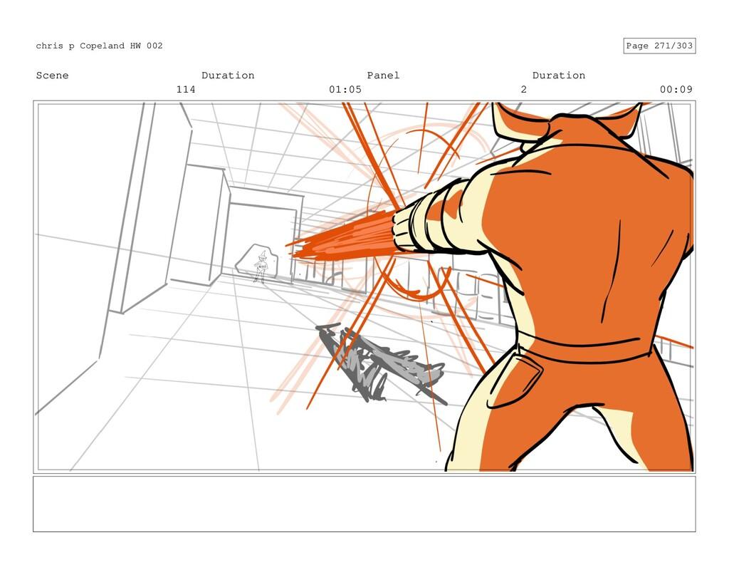 Scene 114 Duration 01:05 Panel 2 Duration 00:09...