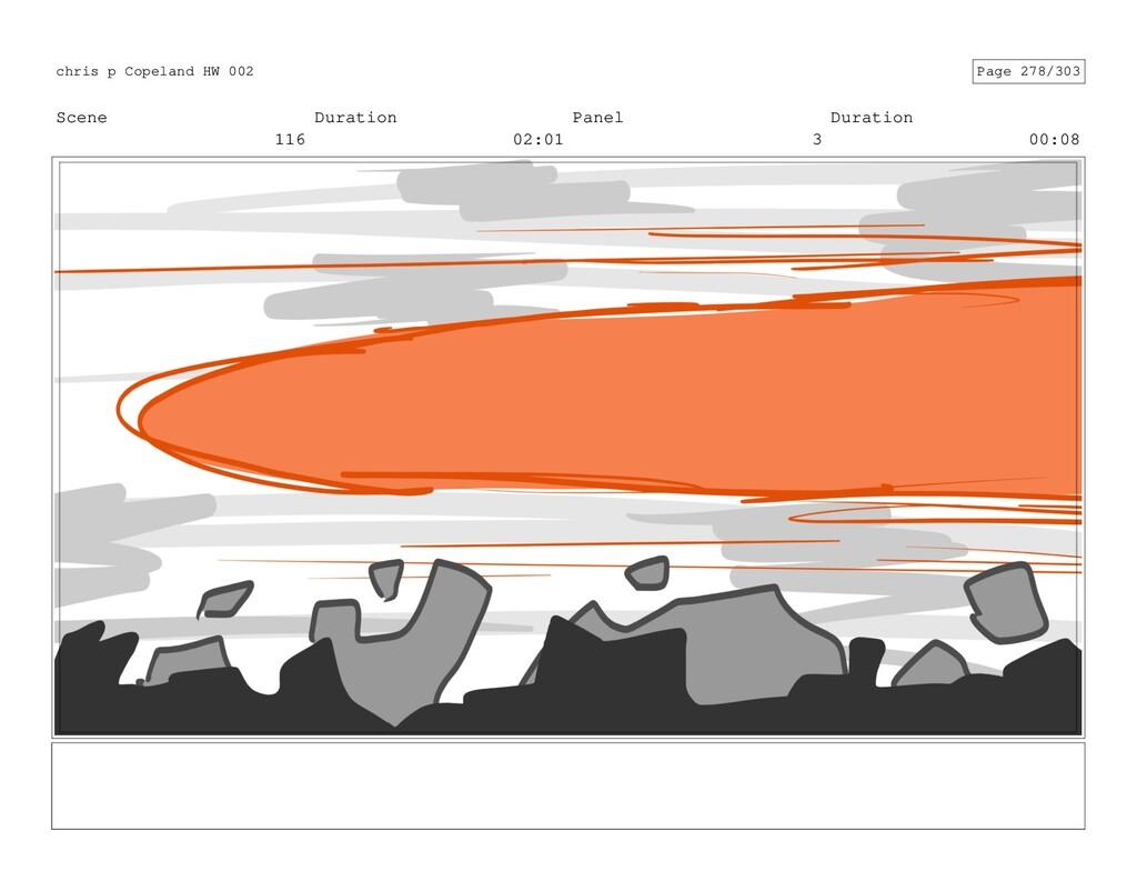 Scene 116 Duration 02:01 Panel 3 Duration 00:08...