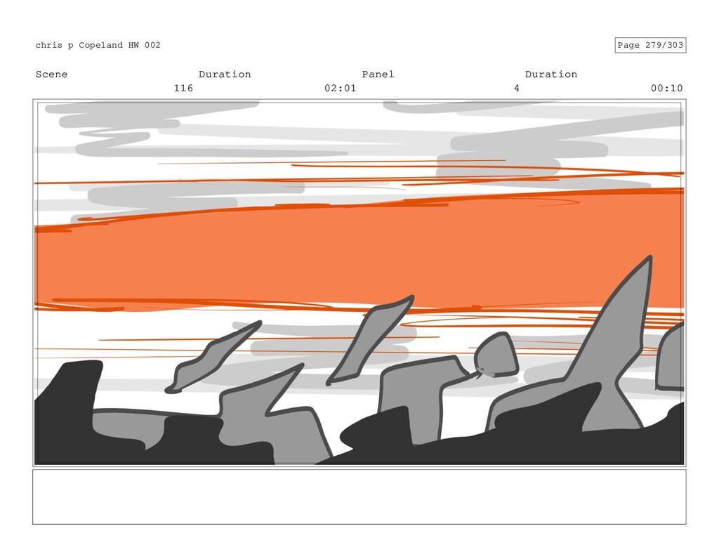 Scene 116 Duration 02:01 Panel 4 Duration 00:10...