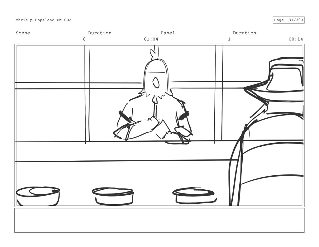 Scene 8 Duration 01:04 Panel 1 Duration 00:14 c...