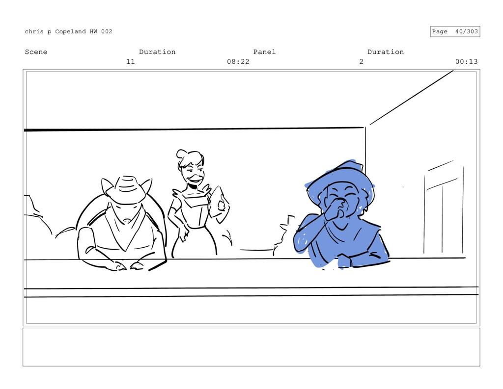Scene 11 Duration 08:22 Panel 2 Duration 00:13 ...