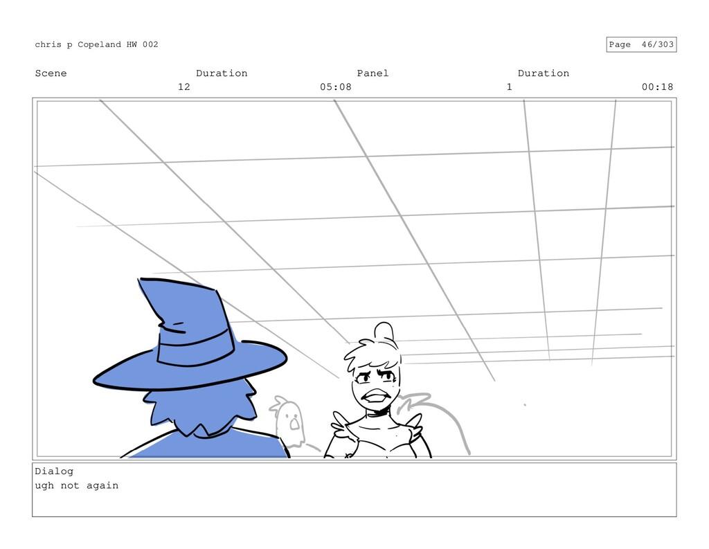 Scene 12 Duration 05:08 Panel 1 Duration 00:18 ...
