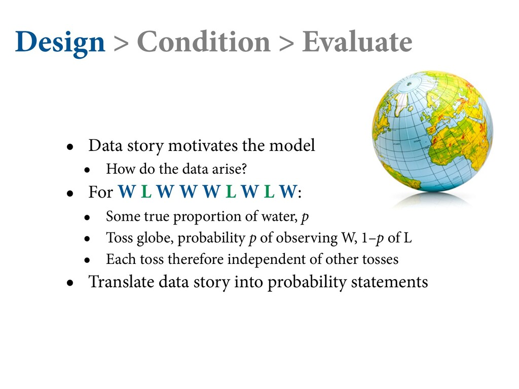 Design > Condition > Evaluate • Data story moti...