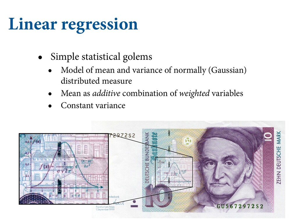 Linear regression • Simple statistical golems •...