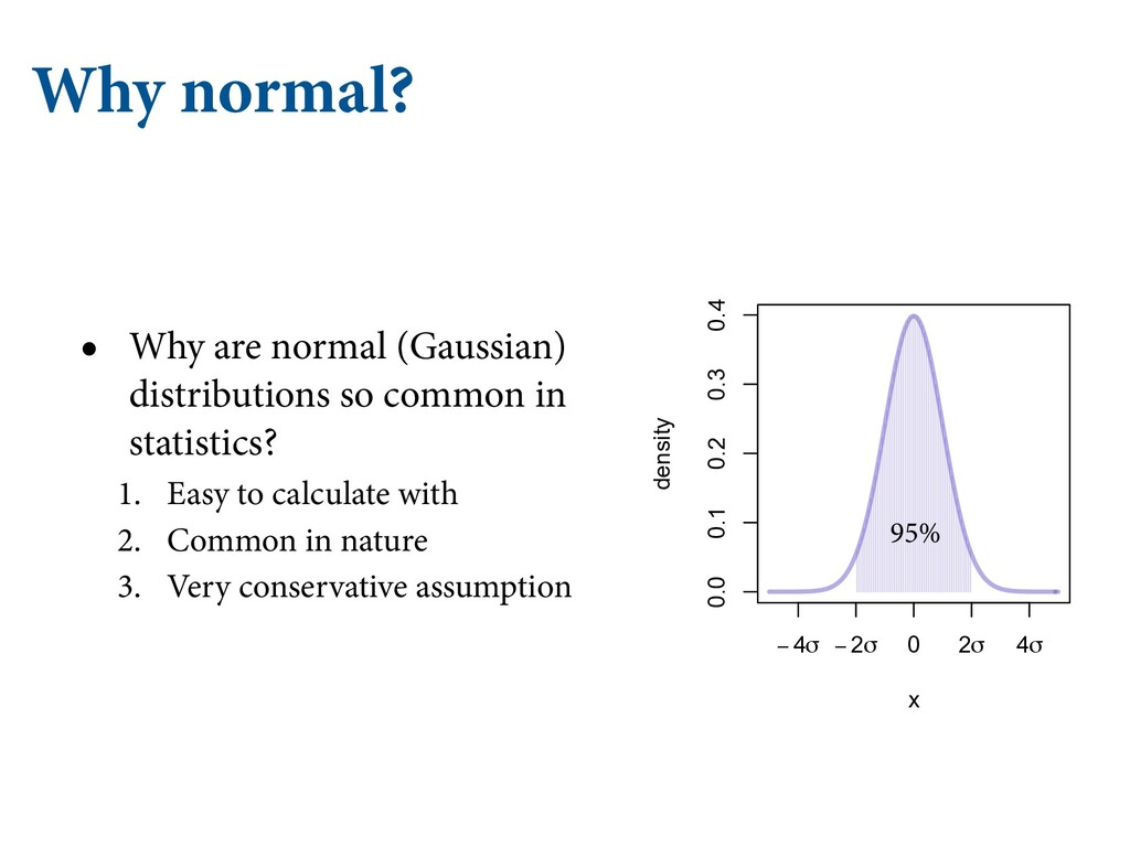 Why normal? • Why are normal (Gaussian) distrib...